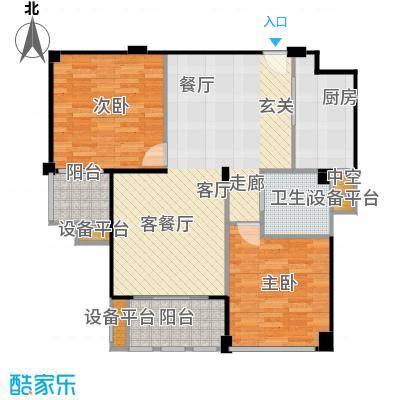 春江名城户型2室1厅1卫1厨