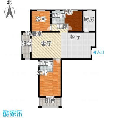汇博丽景豪庭140.95㎡5#F三室两厅两卫户型3室2厅2卫
