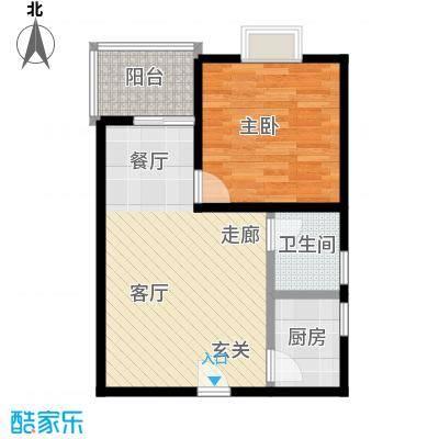 80年代57平米一室一厅一卫户型LL