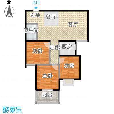 80年代93平米两室两厅一卫户型LL