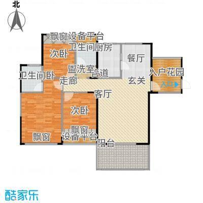 嘉福国际户型3室1厅2卫1厨