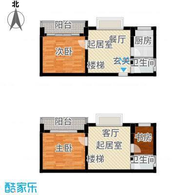 张家围17号花园三房两厅两卫110.72平米户型