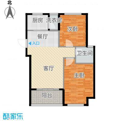 锦绣嘉园77.59㎡三期户型10室