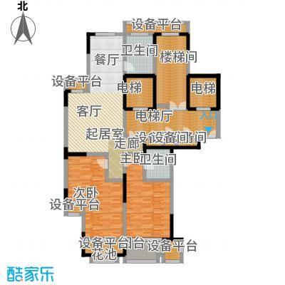 唐宁府131.00㎡阔景高层A户型3室2厅2卫