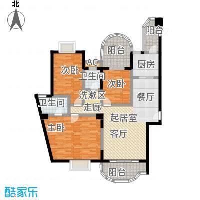 雍景金銮湾户型3室2卫1厨