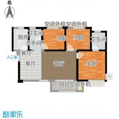 合能十里锦绣94.00㎡A2三室两厅两卫户型3室2厅2卫