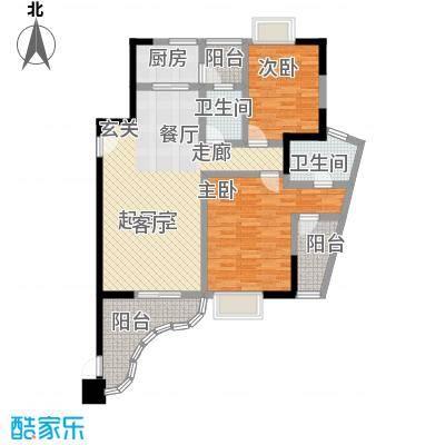 雍景金銮湾121.80㎡(T1)02(T2)01户型