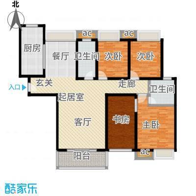 佳诚长安集139平米四室两厅户型CC