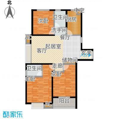 茂华国际汇CC户型3室2卫1厨