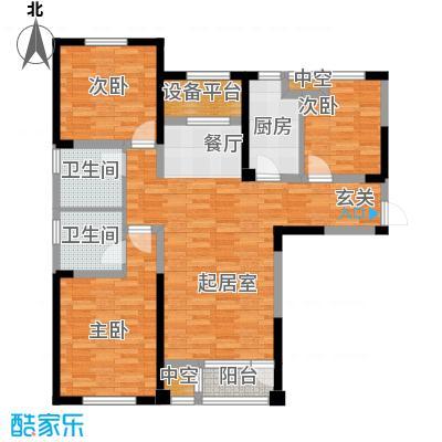 联发第五街118.98㎡20号楼01户型3室2厅2卫