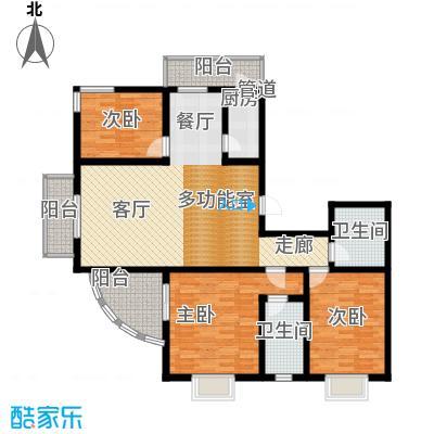 富水一方158.58㎡三室二厅二卫户型