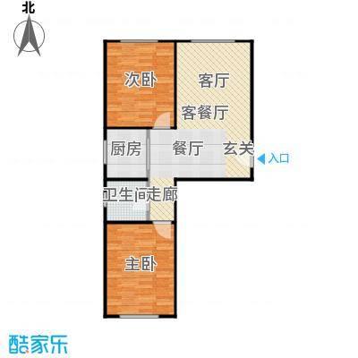 新华名座B座住宅户型2室1厅1卫1厨