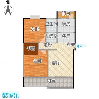 喜利达名苑D户型97.28平方米户型