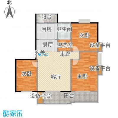 喜利达名苑C户型112.28平方米户型