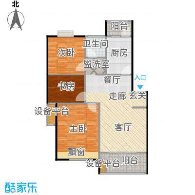 喜利达名苑B户型89.61平方米户型