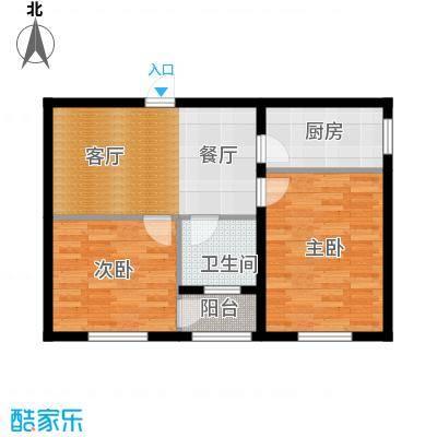 心悦购物广场64.00㎡户型图户型2室1厅1卫