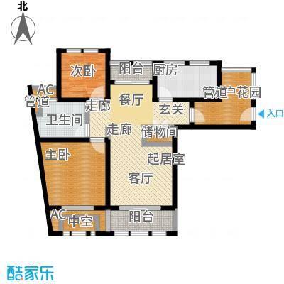 亿丰赛格数码城91.00㎡财富公馆房源户型2室2厅1卫