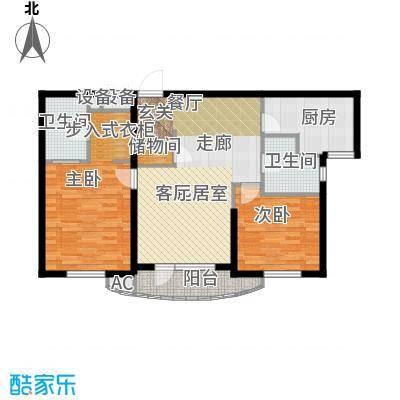 仁恒海河广场峰云阁-户型图-A2/A2\\\'户型二室二厅二卫-108㎡户型2室2厅2卫