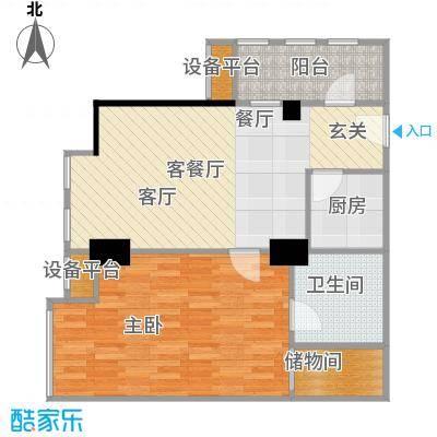 春江名城79.17㎡单身公寓B户型1室1厅1卫