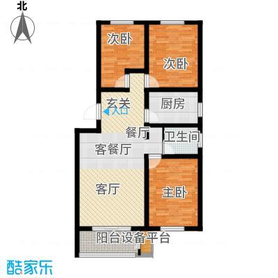 天津未来城103.90㎡Q2户型3室2厅1卫