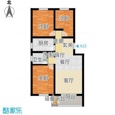 天津未来城103.90㎡Q1户型3室2厅1卫