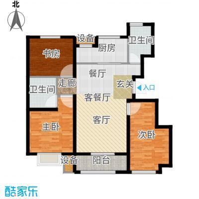 旭辉朗悦湾110.00㎡B户型3室2厅2卫