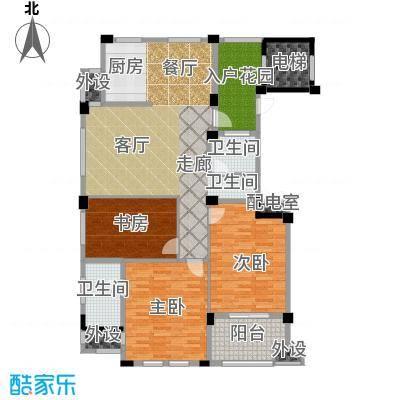 佳园129.12㎡小高层GC11户型3室2厅2卫