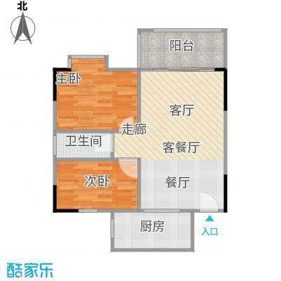 圣地天河星荟75.00㎡户型2室1厅1卫1厨