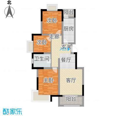 中惠卡丽兰101.00㎡D户型3室2厅1卫