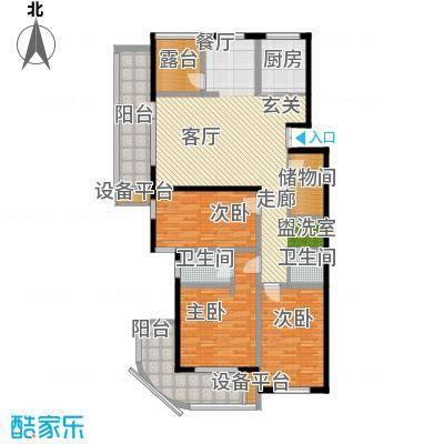 骏明国际E户型 150.48户型4室2厅2卫