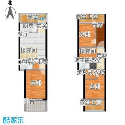骏明国际B户型 83.74户型1室2厅2卫