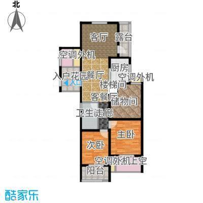 翰林世家11号楼E1-1奇数层户型2室1厅1卫1厨