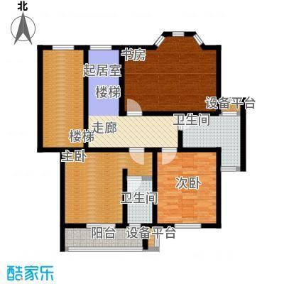 丰润港岛花园102.00㎡复式二层户型