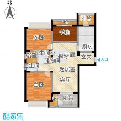 北极星花园111.00㎡B1户型3室2厅1卫户型3室2厅1卫