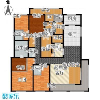 九龙仓国宾1号国宾山310.00㎡E户型5室2厅5卫
