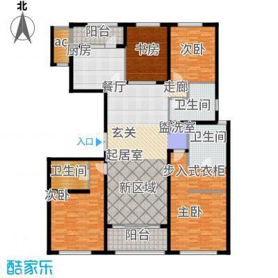 九龙仓国宾1号国宾山180.00㎡C户型4室2厅3卫