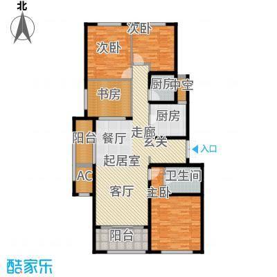九龙仓国宾1号国宾山140.00㎡B户型4室2厅2卫