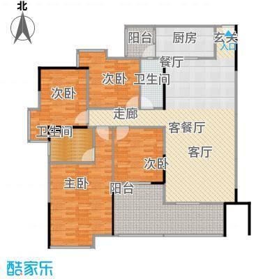 中海金沙苑140.23㎡户型4室1厅2卫1厨