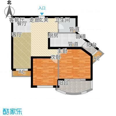 碧玉家园一期二房一厅一卫-90.85平方米户型