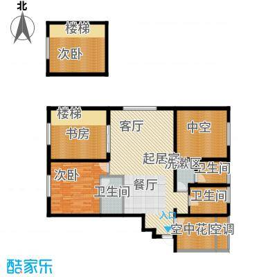 融创星美御128.48㎡1号楼A户型奇数层 3室2厅2卫户型