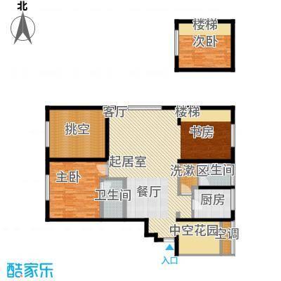 融创星美御125.98㎡1号楼A户型偶数层 3室2厅2卫户型