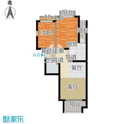 碧玉家园一期二室一厅一卫-89.82-92.09平米户型