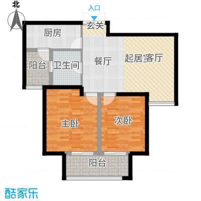 苏宁睿城10号楼B2户型2室1卫1厨