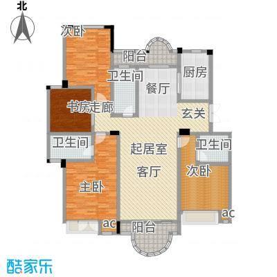 阳光悦湖公馆户型4室3卫1厨