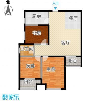 金业缇香山99.35㎡9#B户型3室2厅2卫