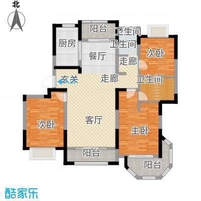 澜调国际131.00㎡C03户型3室2厅2卫