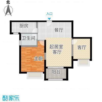 苏宁睿城C户型1室1厅1卫1厨