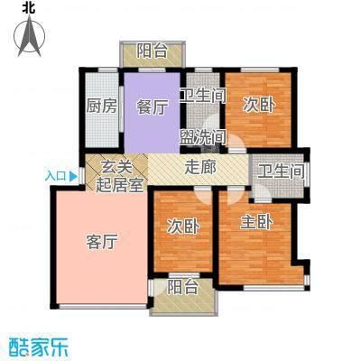 锦山秀城134.60㎡户型图户型3室2厅2卫