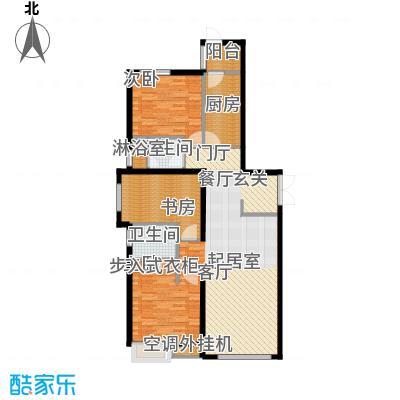 天津富力桃园1号楼01户型3室2厅2卫