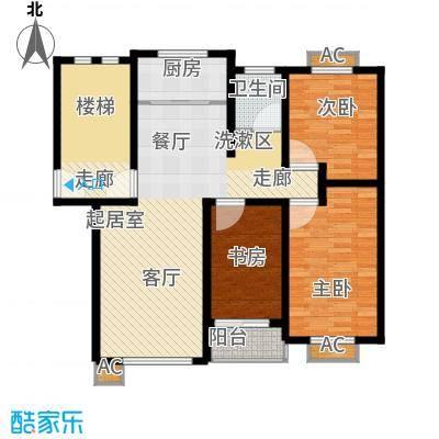 嘉兴丽苑108.60㎡A-100型户型3室2厅1卫